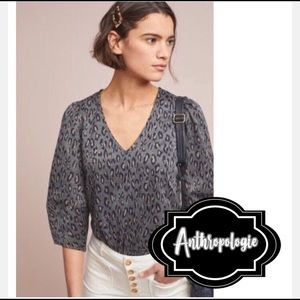 Structured leopard shirt from Anthropologie